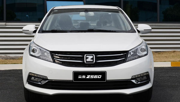 Новый седан Zotye Z560 появится впродаже вначале весны