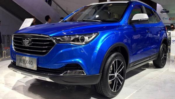 Вначале весны в реализацию поступит китайский «клон» Мазда CX6— FAW Besturn X40