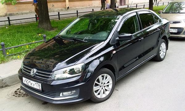 Седан VW  Polo назвали наиболее популярным  автомобилем встолице